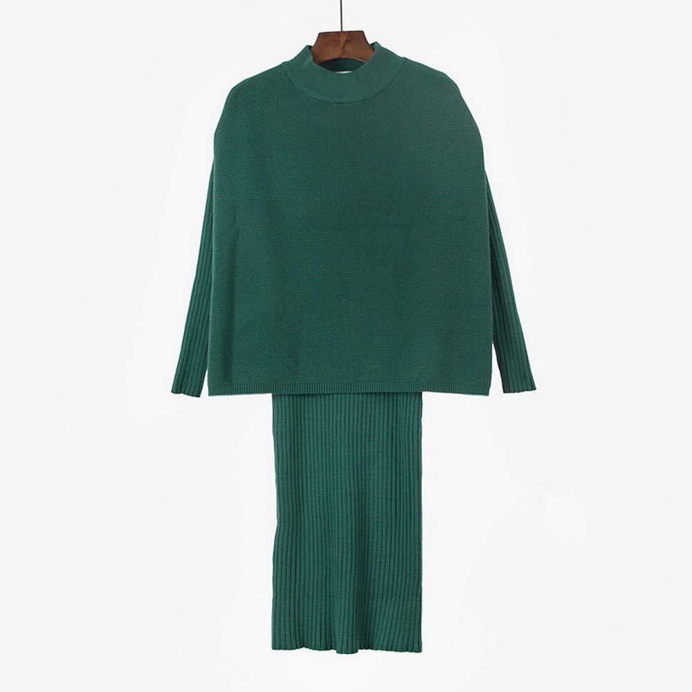 SHUCHANGLE Lose Dünn Pullover Strickkleid Einfach Lange Ärmel. Ärmel. Ärmel. B07H25R813 Rcke Elegantes Aussehen 363176