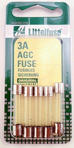 Agc Fuse 3a Glass (Littelfuse AGC3BP AGC Glass Fuses)