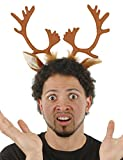 elope Reindeer Ears and Antlers Headband Unisize Brown