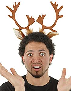 elope Reindeer Ears and Antlers Headband Unisize Brown