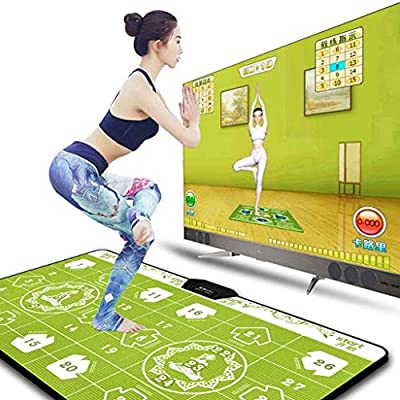 Dance mat Quality Double TV Dance Blanket,Household Dual-use Dance Rug Tv Game Somatosensory Weight Loss Running Game Machine -2020 (Color : Lover Jump): Home & Kitchen