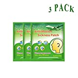 Queenie® Medical Plaster Car Motion Sickness Patch, Natural Herb Ingredient Anti-Nausea & Relief Vomiting Chinese Medical plaster for Car/Sea/Air Travel Sickness, 6 Pcs