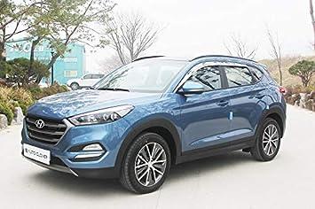 Amazon.es: Autoclover - Juego de deflectores de Viento cromados para Hyundai Tucson 2015 + (6 Unidades)