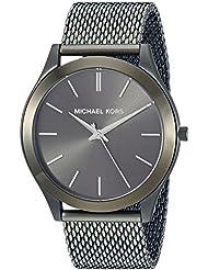 Michael Kors Mens Slim Runway Quartz Stainless Steel Casual Watch, Color:Green (Model: MK8608)
