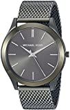Michael Kors Men's 'Slim Runway' Quartz Stainless Steel Casual Watch, Color:Green (Model: MK8608)