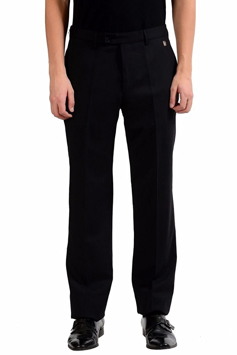 Versace Collection Men's Black Wool Dress Pants Size US 34 IT 50 KJ-5965-2