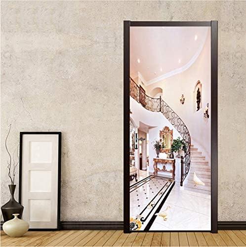Lifme Estilo Europeo 3D Escaleras Pintura De Pared De Fondo Living Room Aisle Dormitorio Etiqueta De La Puerta Pvc Wall Paper Mural -400X280Cm: Amazon.es: Bricolaje y herramientas