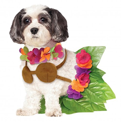 Dog Hula Costume (Rubies Costume Company Hula Girl Pet Costume, Small)