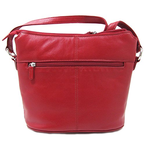 Leather Zip Crossbody Toffee Handbag Hobo ili 8Tdxq8