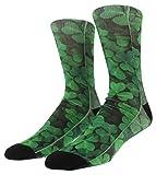 Sof Sole Mens Digital Design Clover Crew Socks Green L