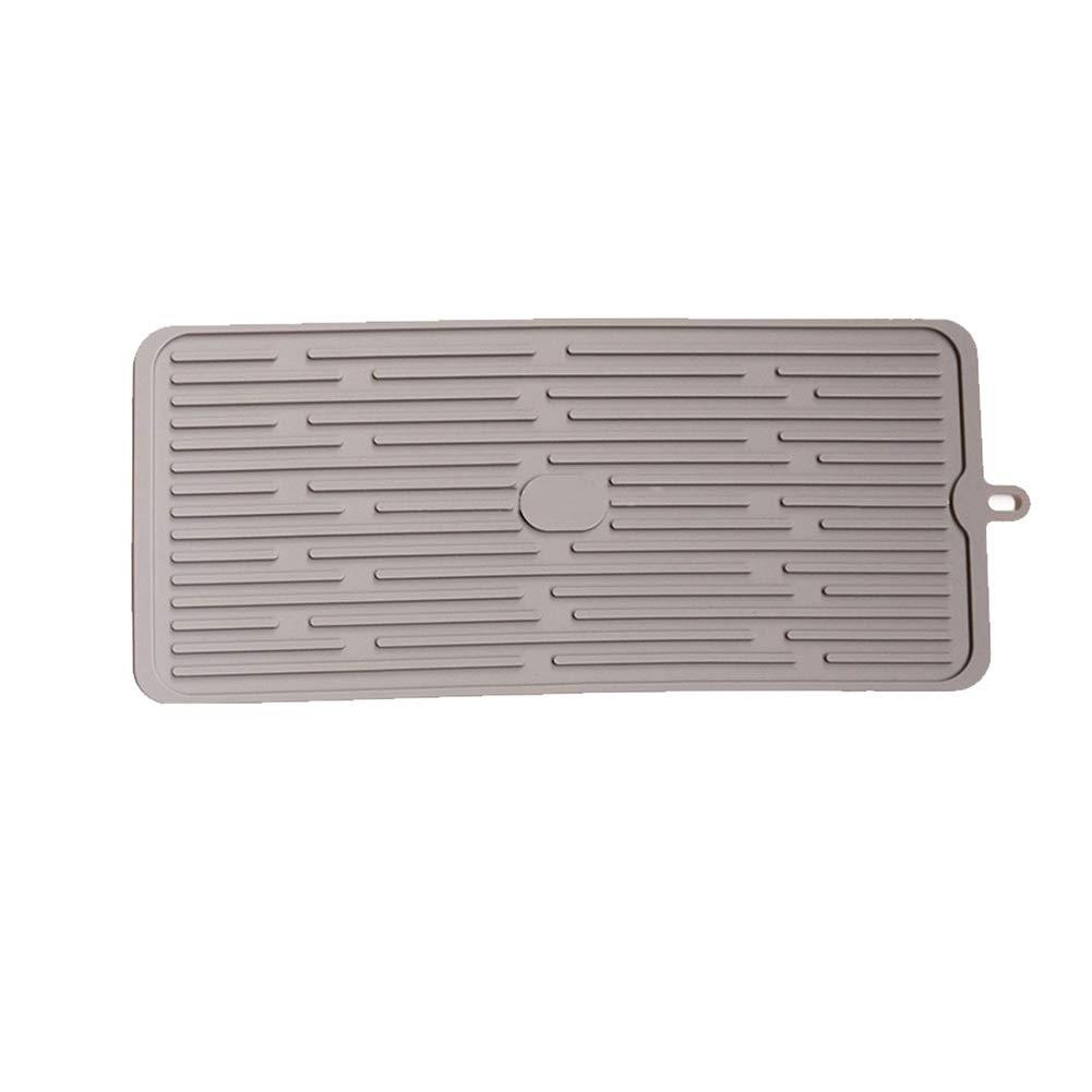 Tappetino Scolapiatti in silicone per cucina 45 x 20 cm Impermeabile, Antiscivolo, Resistenza alle Alte Temperature Immoch