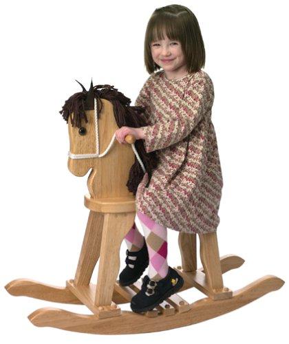 ng Horse - Natural (Natural Wood Rocking Horse)