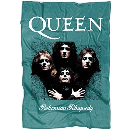ROEBAGS Queen Band Bohemian Rhapsody Soft Fleece Throw Blanket, British Rock Queen Band Blanket for Bed and Couch (Medium Fleece Blanket (60
