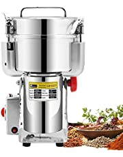 CGOLDENWALL Swing Type Electric Grain Grinder Mill 2000g Stainless Steel Commercial Spice Pepper Grinder Upgraded Open-cover-stop Safety Design Cereals Puerizer Herb Grinder Commercial Fine Powder Machine with CE Certificate for Various Grains Spice, Gift for mom, Wife