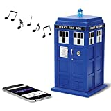 Doctor Who Tardis Merchandise | Fametek Bluetooth Speaker - Plays Music, Lights Up, Sounds Effects | Unique Gifts for Men - Great for Dad Birthday Gifts Anniv. Gadgets Merch Toy Geek Nerd Collectibles