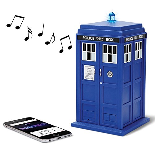 Doctor Who Tardis Merchandise | Fametek Bluetooth Speaker - Plays Music, Lights Up, Sounds Effects | Unique Gifts for Men - Great for Dad Birthday Gifts Anniv. Gadgets Merch Toy Geek Nerd Collectibles by FAMETEK