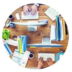 alfombrilla de ratón La gente Conferencia de Trabajo de fotos ilustración del concepto - ronda - 20cm
