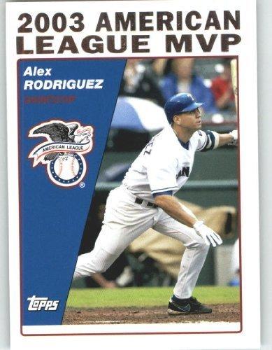 online store aec3b e8615 2004 Topps Baseball Card # 716 Alex Rodriguez MVP (American ...