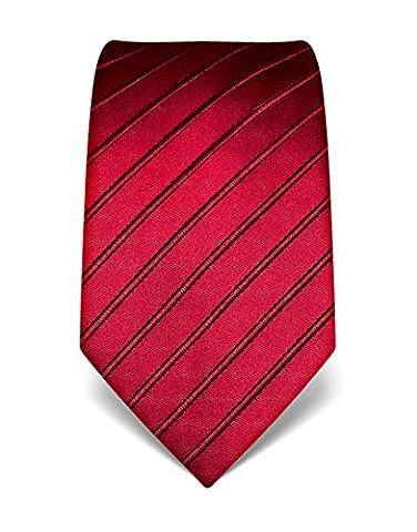 Vincenzo Boretti Men's Silk Tie - tone in tone striped - many colors (Seta Zipper)