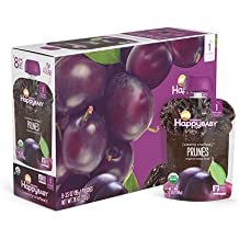 Happy Baby Organic Clearly Crafted Stage 1 Baby Food 1 Prunes, 3.5 Ounce Pouch (Pack of 16) Resealable Baby Food Pouches, Fruit & Veggie Puree, Organic Non-GMO Gluten Free Kosher