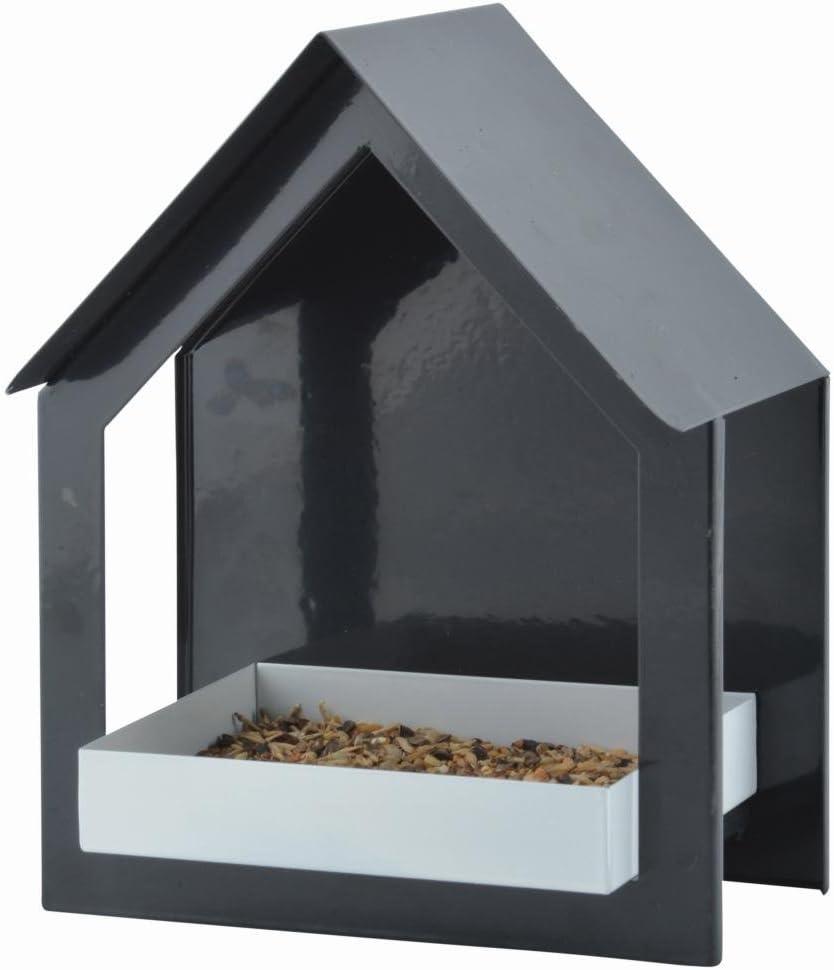 Esschert Design FB406 Series Anthracite Wall Bird Table