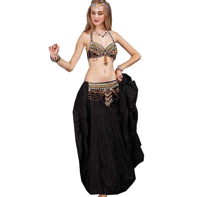 S&Z Disfraz de Danza del Vientre para Mujer Conjunto de ...