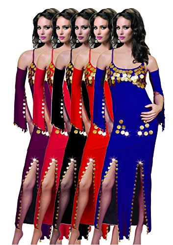 Baladi Sexy Beaded Saidi Costume Galabya Belly Dance Lingerie Abaya Handmade - Galabeya Belly Dance Costume