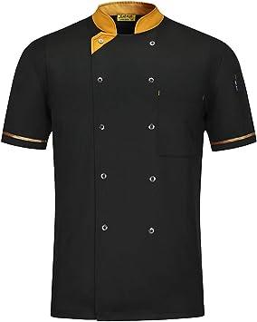 WMOFC Chaquetas Chef Uniforme,Camisa De Cocinero,Hotel Restaurante Occidental Camareros Cocina Uniforme Tops,Chefs Jacket Coat Hostelería Ropa Trabajo: Amazon.es: Deportes y aire libre