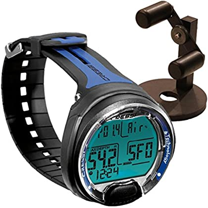 Image of Cressi Leonardo Dive Computer, Scuba Diving Instrument w/Watch Stand or GupG Reg Bag Diving Electronics