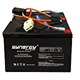 Razor 12 Volt 7Ah Electric Scooter Batteries High Performance - Set of 2 Includes New Wiring Harness Fits: Razor Ground Force Go Kart Beiter DC Power