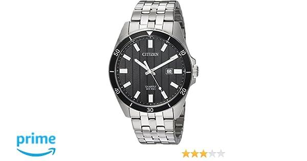 Amazon.com: Citizen Mens Quartz Stainless Steel Casual Watch, Color:Silver-Toned (Model: BI5050-54E): Watches