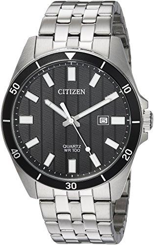 Citizen Men's ' Quartz Stainless Steel Casual Watch, Color Silver-Toned (Model: BI5050-54E) (Citizen Quartz Bracelet)