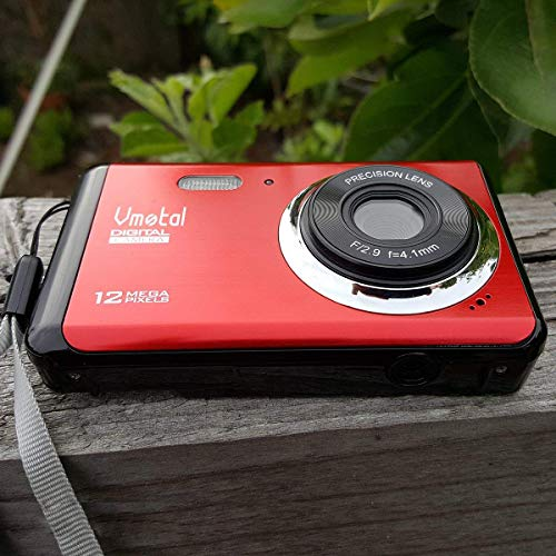 2.8 inch TFT LCD Rechargeable HD Mini Digital Camera, Vmotal Video Camera Digital Students Cameras with 8X Digital Zoom 12 MP HD Compact Camera for Kids/Beginners/Elderly (Red)