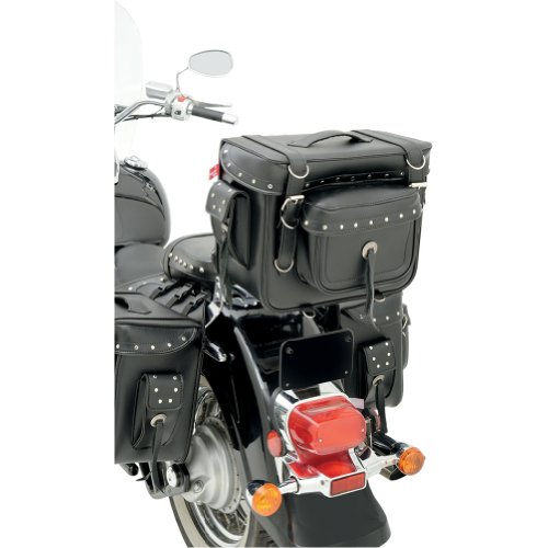 "All American Rider Bike Pack Motorcycle Sissy Bar Bag - 15"" L x 12.5"" H x 7.5"" W - Riveted"