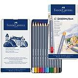 Faber Castell Creative Studio Goldfaber Aqua Watercolor Pencils - Tin of 12 Colors