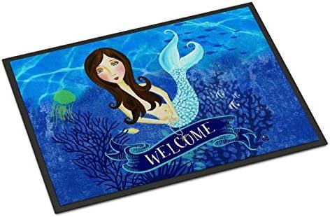 Caroline s Treasures VHA3010JMAT Welcome Mermaid Indoor or Outdoor Mat 24×36, 24H X 36W, Multicolor