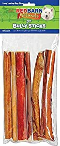 redbarn pet bully stick for pets 7 inch 1 pack of 6 pet rawhide treats pet. Black Bedroom Furniture Sets. Home Design Ideas