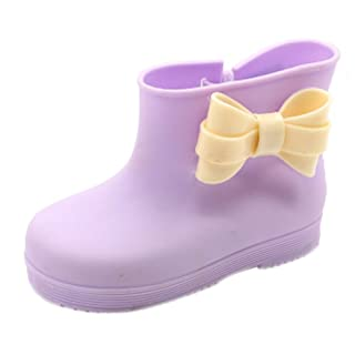 Children Bow Rian Boots,Jelly Shoes,Baby Shoes Water Shoes For Children Purple Kylin Express