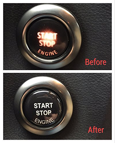 Sunyat Engine Start Stop Button Repair kit 3D Sticker Decal for BMW E90 E91 E60 E61 E84 F10 F11 E70 F30 F25 ()