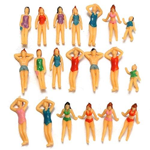 Raza Lovely Mini Crafts 20 pcs Swimming Figures Resin Mod...
