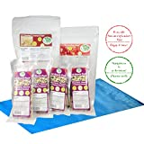 Low Carb Keto Foods and Snacks, Unsweetened Toasted Coconut Chips + Chocolate Almond & Toasted Coconut Snack Packs + Freeze Dried Strawberries by LC Foods, Ketogenic Diet Food