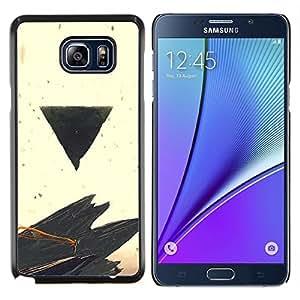 LECELL--Funda protectora / Cubierta / Piel For Samsung Galaxy Note 5 5th N9200 -- Negro Triángulo --