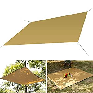 FOONEE Waterproof And Heat Insulation Sand UV Block Sun Shade Sail, Perfect For Patio Garden Outdoor Facility And Activities