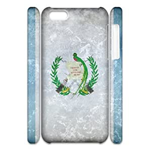3D [National Flags] Grunge Flag of Guatemala Cases for IPhone 5C, IPhone 5C Case {White}