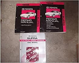 1992 Toyota Supra Service Shop Repair Manual Set 3 Vol W Supplement Ewd Oem Toyota Amazon Com Books