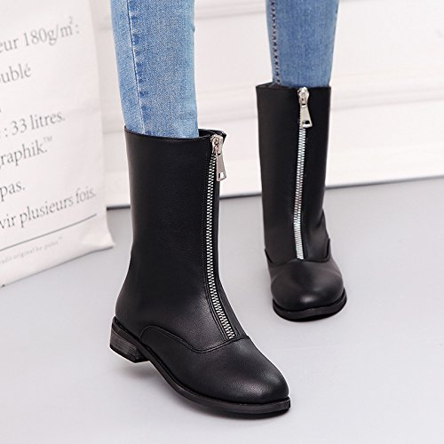 Boots Big Thirty Head Middle The Code Shoe Boots The Of Type GTVERNH The Boots The The Heel Big Heel Martin Winter In And And The eight Autumn New Round Of Locomotive 1aBqw4