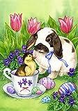 """Toland Home Garden 112082 Easter Friends 12.5 X 18"""" Decorative USA-Produced Garden Flag"""
