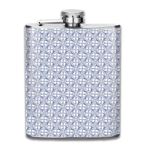 Marbled Tile Athens Stainless Steel Flask Leakproof 7 Oz Hip Flask for Alcohol Whiskey Wine Flagon Mug Drinking Cup For Travel Picnic