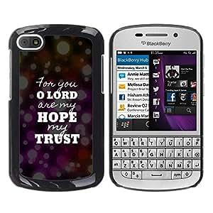 PC/Aluminum Funda Carcasa protectora para BlackBerry Q10 BIBLE Lord Hope Trust / JUSTGO PHONE PROTECTOR