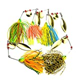 YOGAYET Fishing Hard Spinner Lure Spinnerbait Pike...